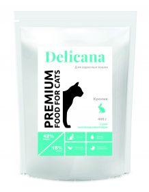 Delicana Сухой корм для взрослых кошек с кроликом, 8 кг