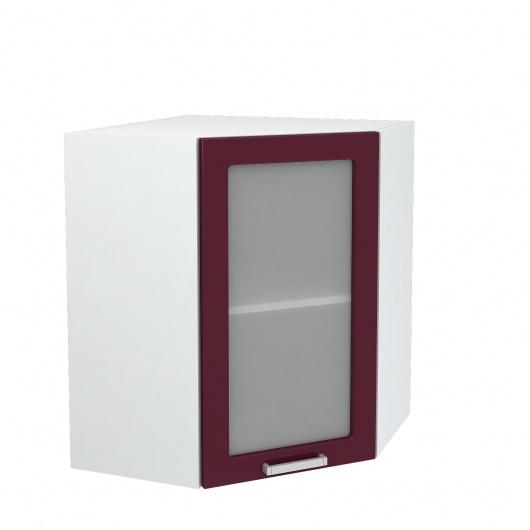 Шкаф верхний угловой со стеклом Джулия ШВУС 550
