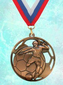 Медаль наградная Гранд за 3 место 70 мм Футбол