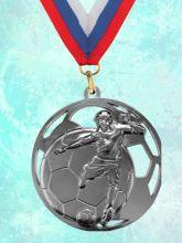 Медаль наградная Гранд за 2 место 70 мм Футбол
