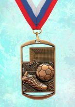 Медаль наградная Парма за 3 место 40х70 мм Футбол