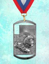 Медаль наградная Парма за 2 место 40х70 мм Футбол