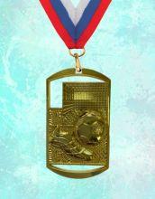 Медаль наградная Парма за 1 место 40х70 мм Футбол