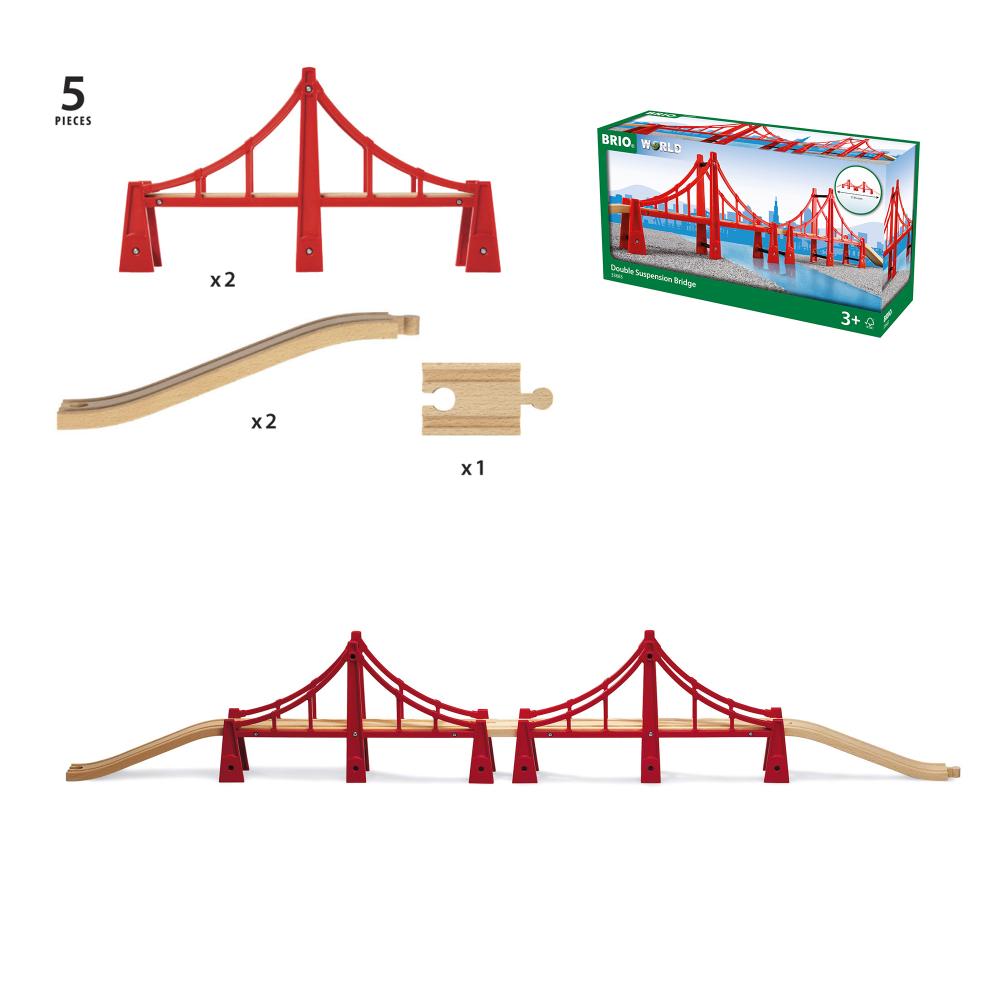 BRIO Подвесной мост, двойной, 5 элементов, 115х19х5,6см
