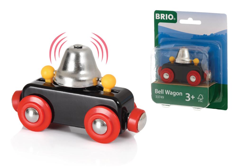 BRIO вагончик с сигнал.колокольчиком,звон при движ.,8х4х5см,кор.