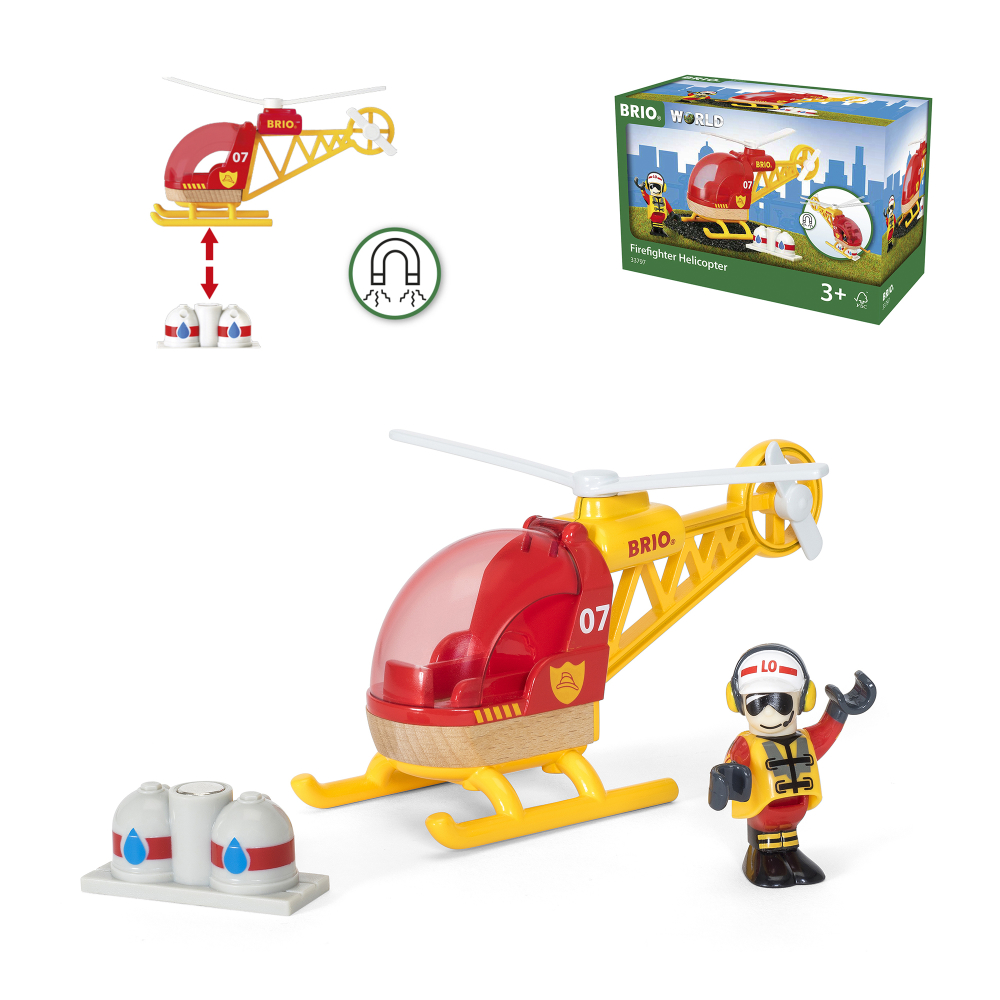BRIO Спасательный вертолет,груз,фигурка,19х9х13см,кор.