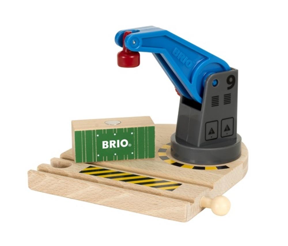 BRIO вращающийся подъемный кран на магните с грузом,2 эл.,13х11х13см,кор.