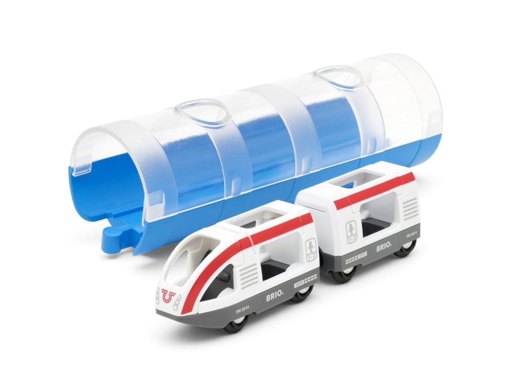 BRIO Электричка и туннель (3 элемента), блистре 23,5х7,8х7,8 см., кор. 23,5х8х15 см.