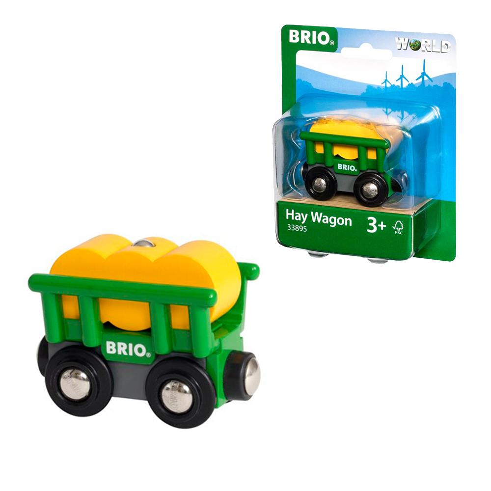 BRIO Вагончик с сеном,2 эл.,блист.11х13,3х4 см