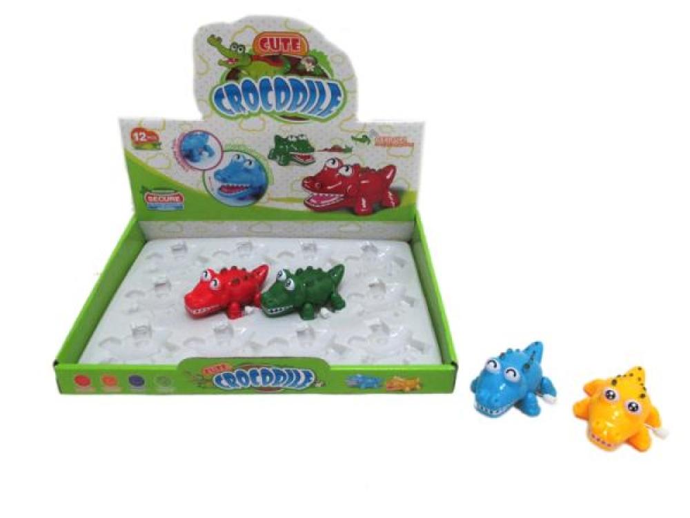Игрушка заводная крокодильчик, 12 шт в дисплее в асс, 6*3*3 см