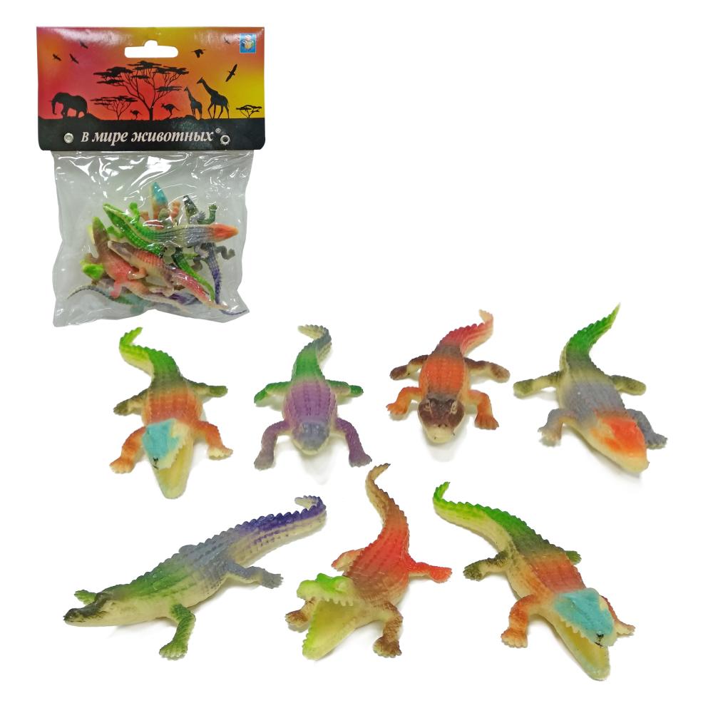 1toy В мире животных: крокодилы, 8 шт, пакет с хед
