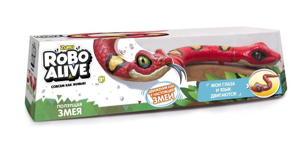 Игрушка Робо-змея RoboAlive(Красная), 2 *1,5vAA бат (в компл не входят) 40*13*10см