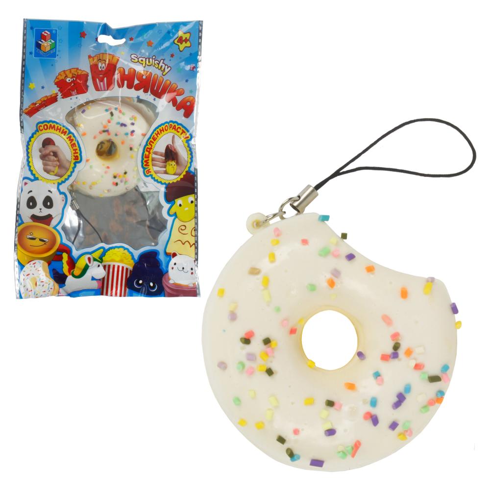 1toy игрушка-антистресс мммняшка squishy (сквиши), мини-пончик в глазури 16 гр, 6.5/6.5/2.5