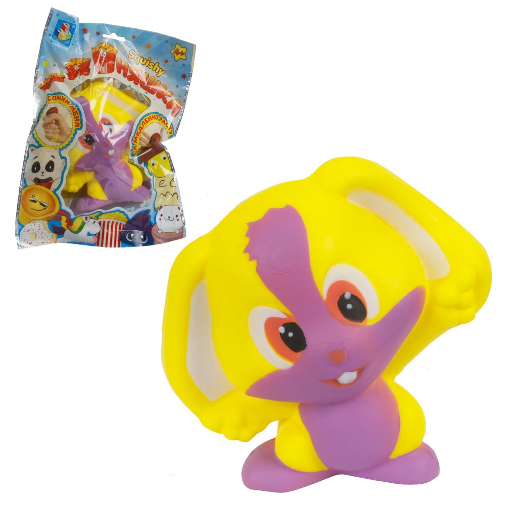 1toy игрушка-антистресс мммняшка squishy (сквиши), зайчик w47/12.5/12/6.5