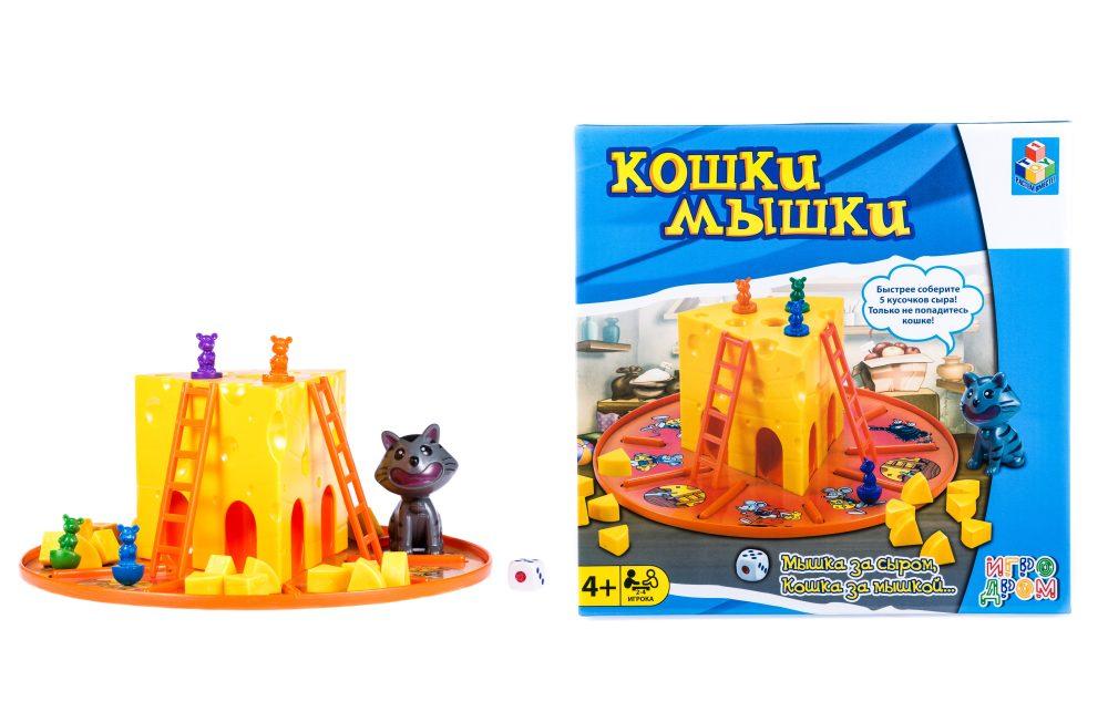 1toy ИГРОДРОМ Игра настольная Кошки-Мышки