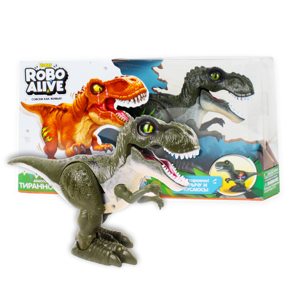 Игрушка Робо- Тираннозавр RoboAlive (зелен) 2* ААА бат (не входят) 35*9*19,5