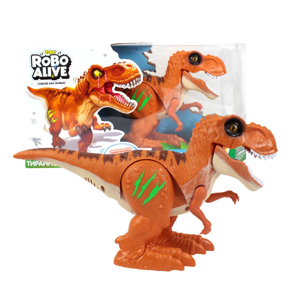 Игрушка Робо- Тираннозавр RoboAlive (оранж) 2* ААА бат (не входят) 35*9*19,5