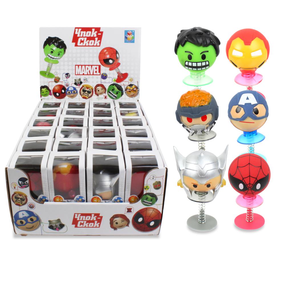 1toy Игрушка-прыгун Чпок-Скок: Marvel, картон. коробка, д/б 24 шт. микс