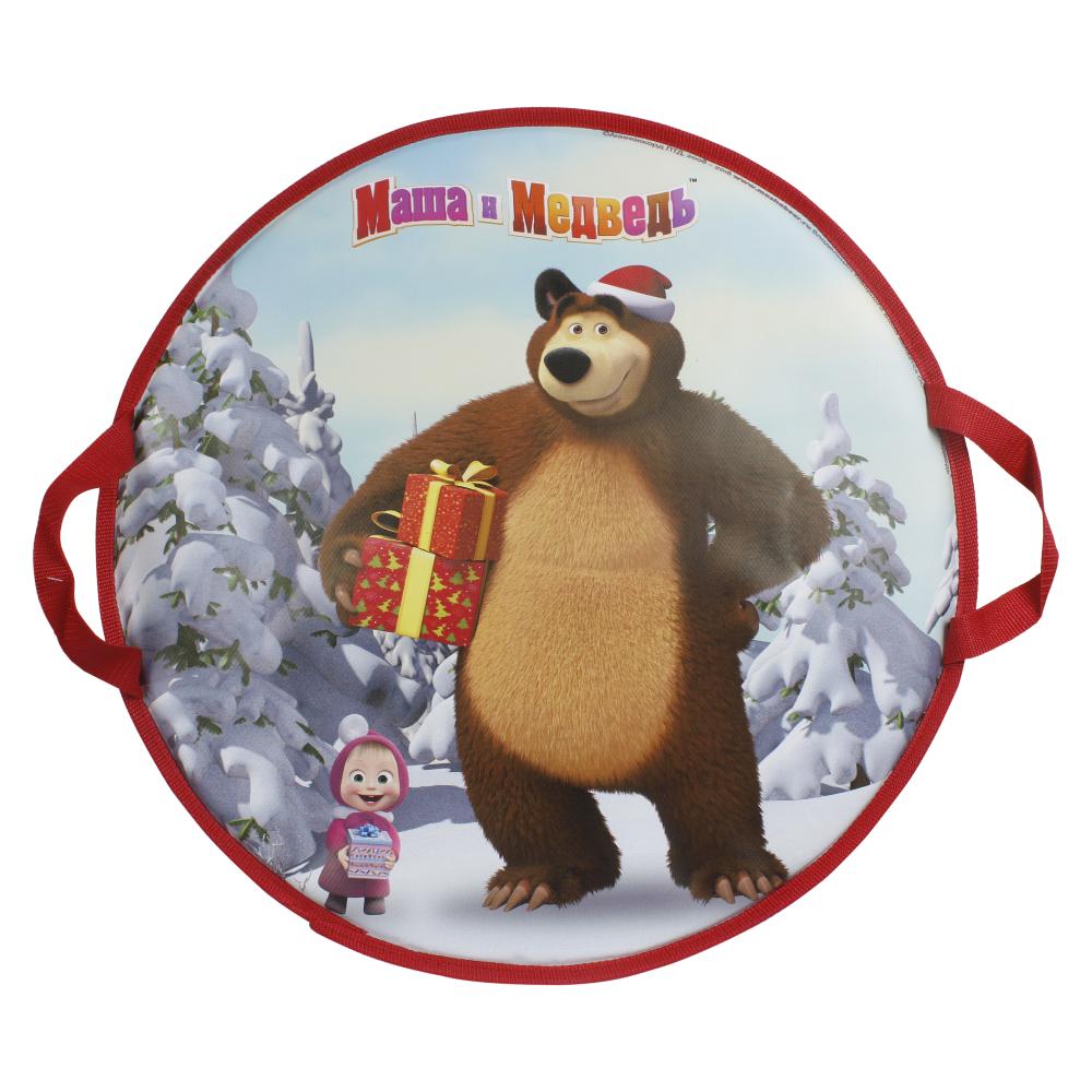 1toy Маша и Медведь ледянка 52см, круглая