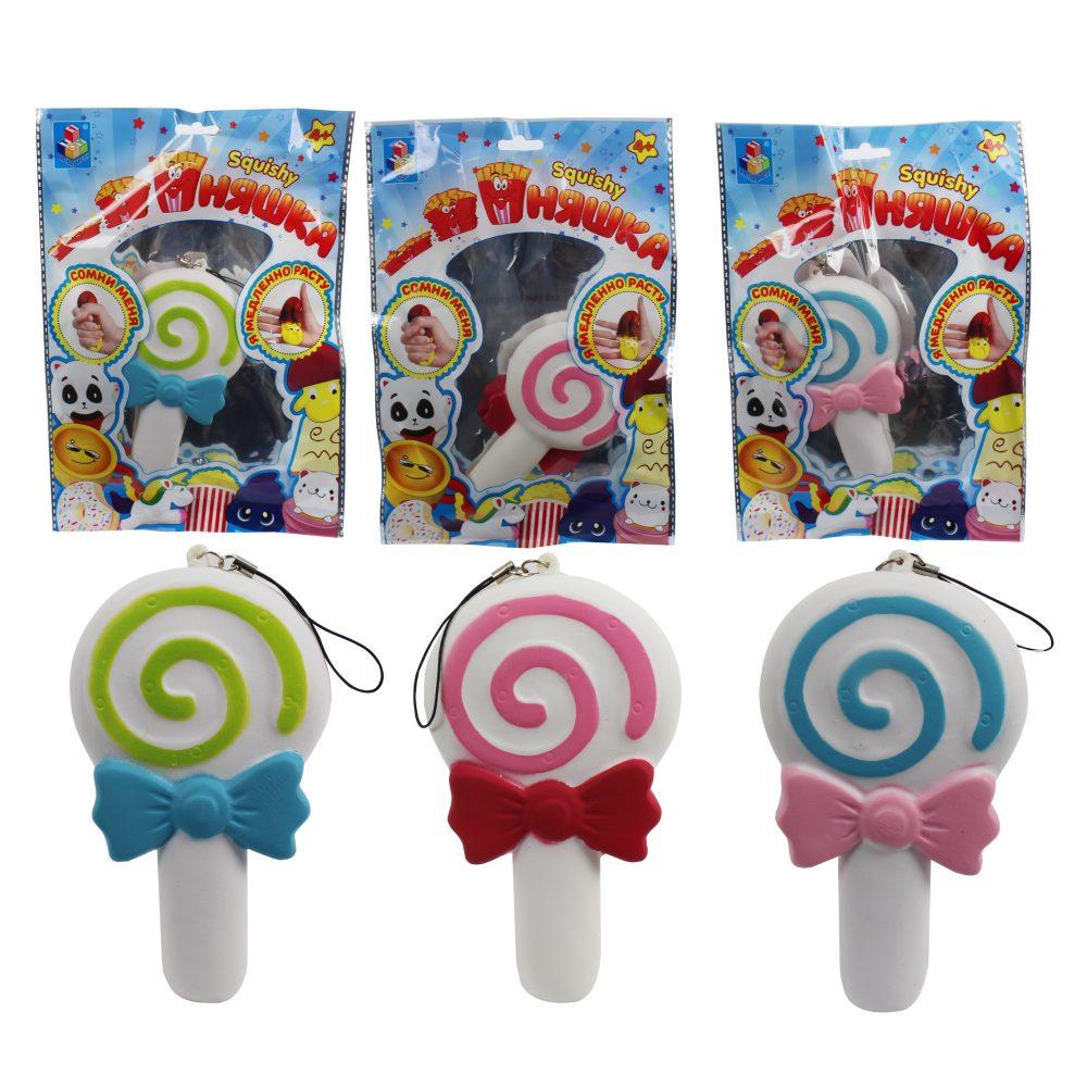 1toy игрушка-антистресс мммняшка squishy (сквиши), леденец,13см