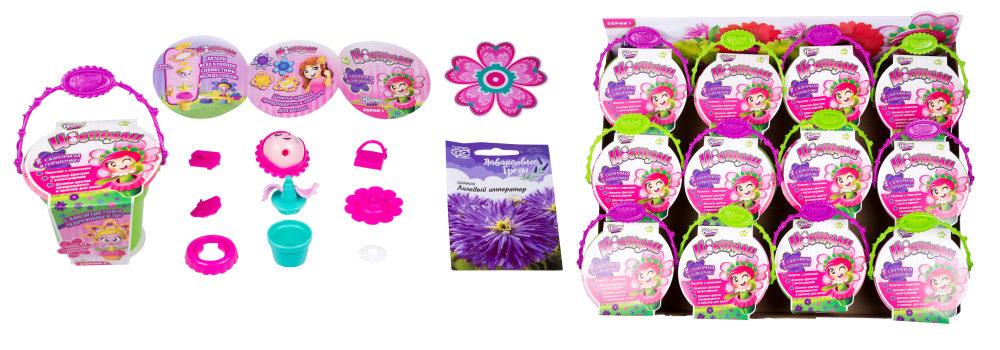ЦВЕТУЛИ Набор для выращивания цветов, дисплей-бокс 12 шт.