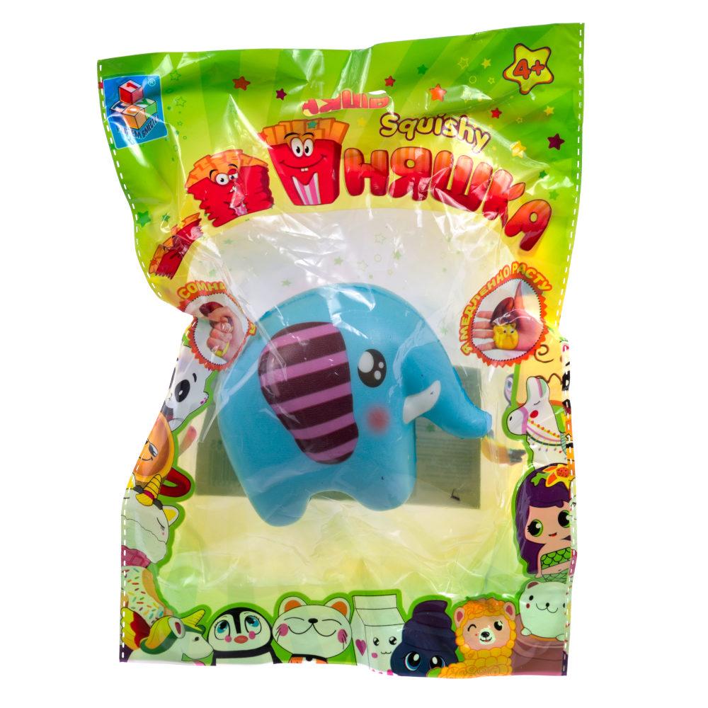 1toy игрушка-антистресс мммняшка squishy (сквиши), слон ,35 гр