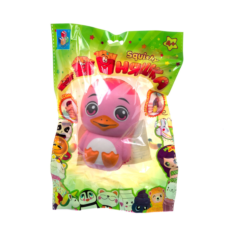 1toy игрушка-антистресс мммняшка squishy (сквиши), утёнок mix ,43 гр, 10см