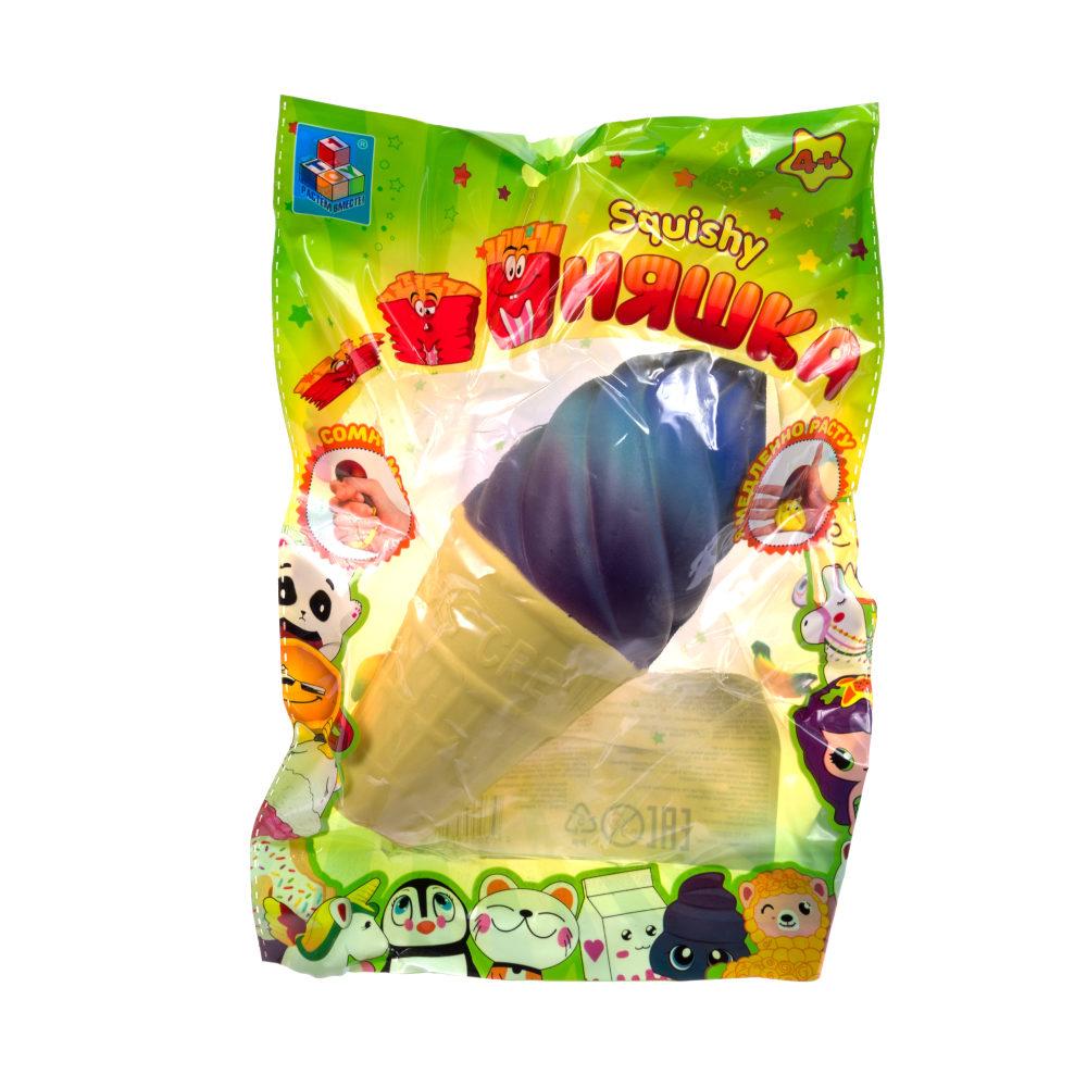 1toy игрушка-антистресс мммняшка squishy (сквиши), мороженное в рожке ,40 гр.