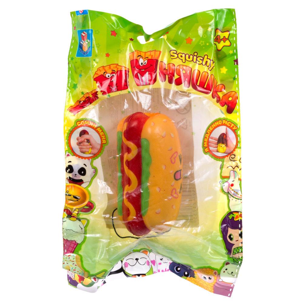 1toy игрушка-антистресс мммняшка squishy (сквиши),хот дог 23 гр.