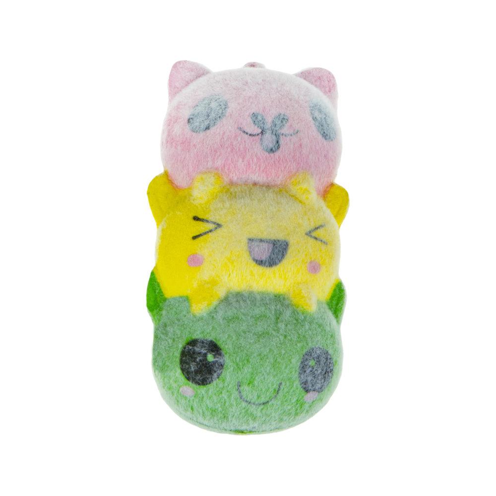 1toy игрушка-антистресс мммняшка флок squishy (сквиши) три кота, 30гр, 11х6см
