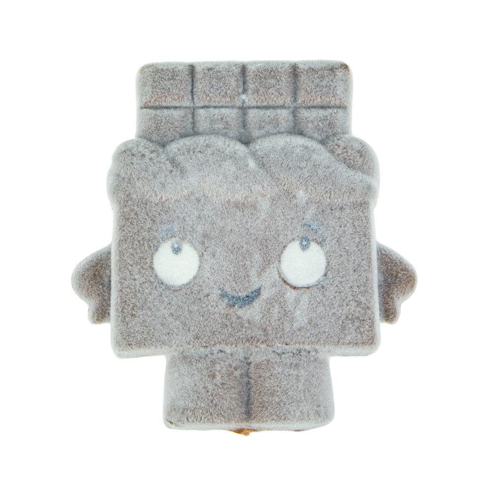 1toy игрушка-антистресс мммняшка флок squishy (сквиши) шоколадка, 52гр, 12,5х9см