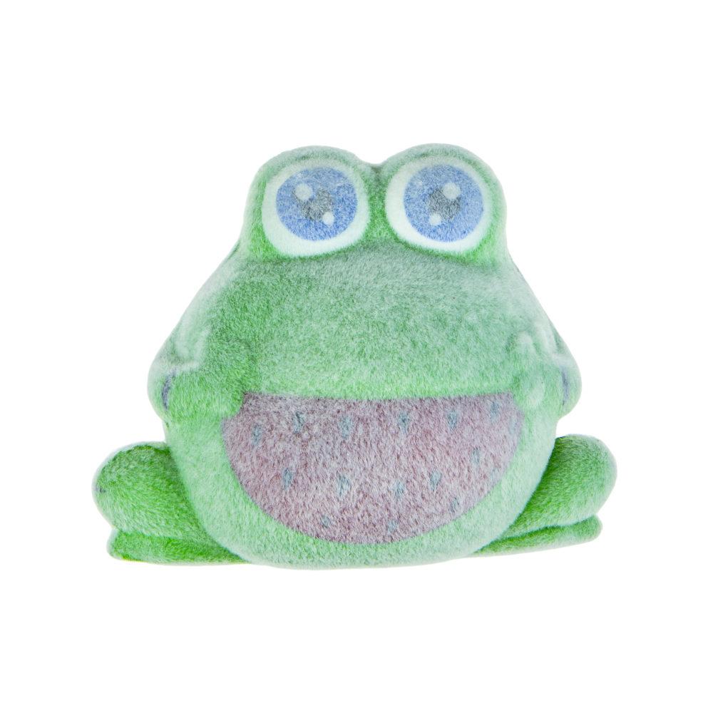 1toy игрушка-антистресс мммняшка флок squishy (сквиши) лягушка, 64гр, 10х12см