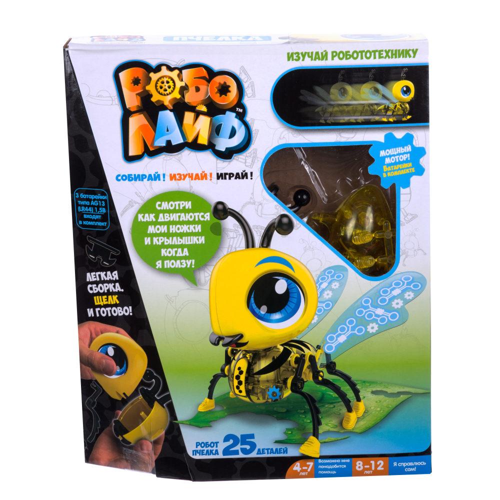 1TOY Игрушка РобоЛайф Пчелка (модель для сборки) 3*АG13 бат (входят) 20х25х4