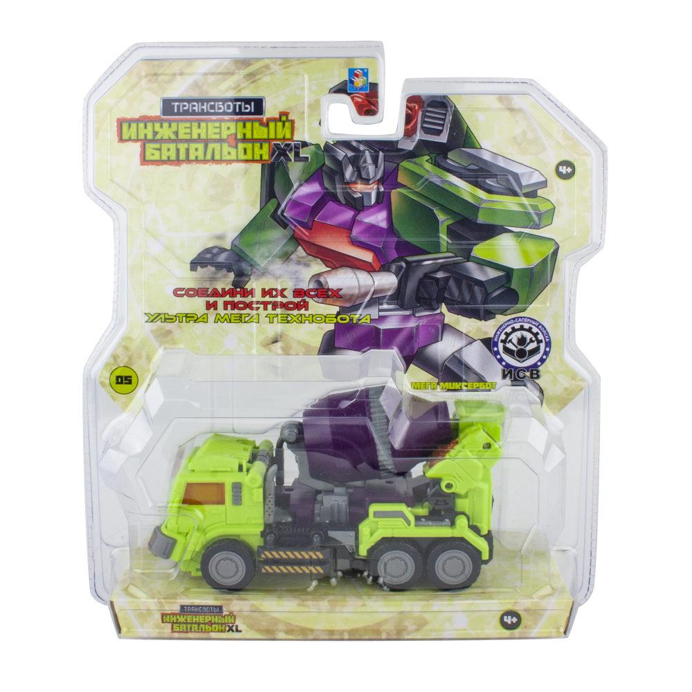 1toy Трансботы Инженерный батальон XL: Мега Миксербот (блистер, из 6 шт. собирается большой робот)