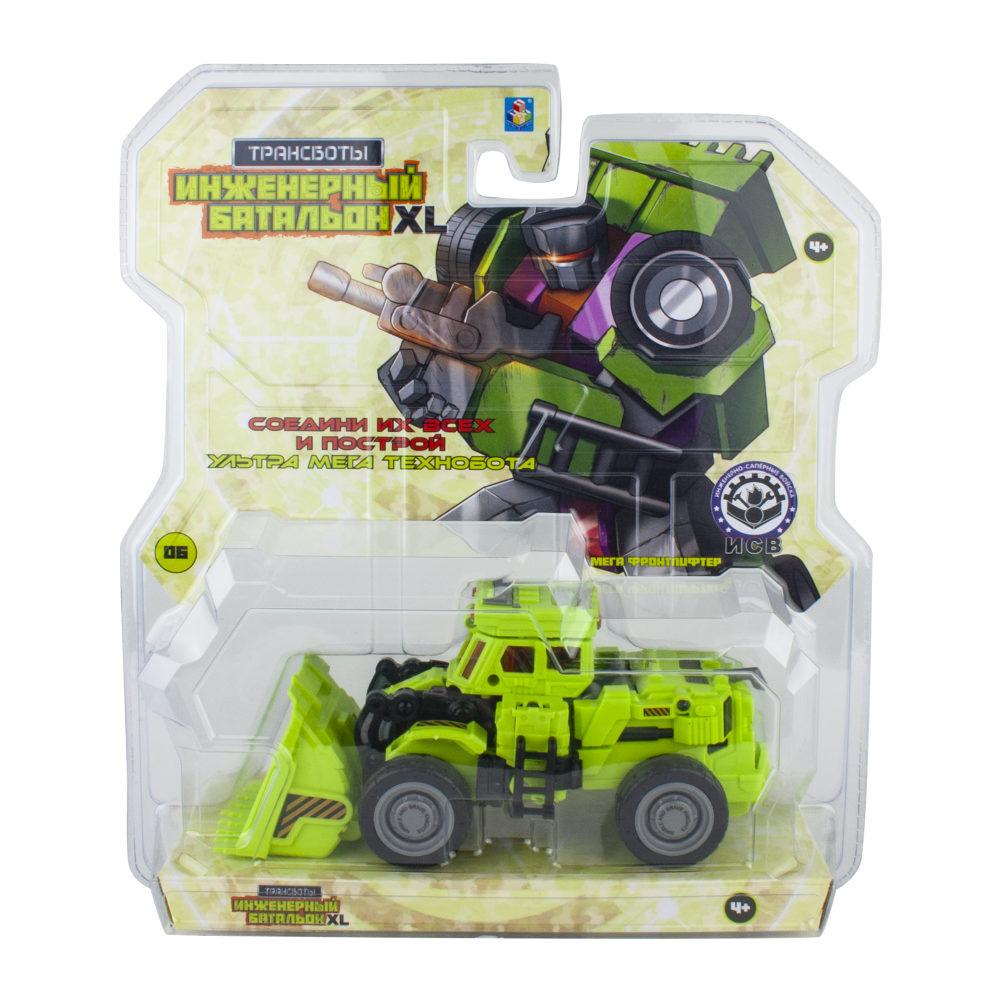 1toy Трансботы Инженерный батальон XL: Мега Фронтлифтер (блистер, из 6 шт. собирается большой робот)