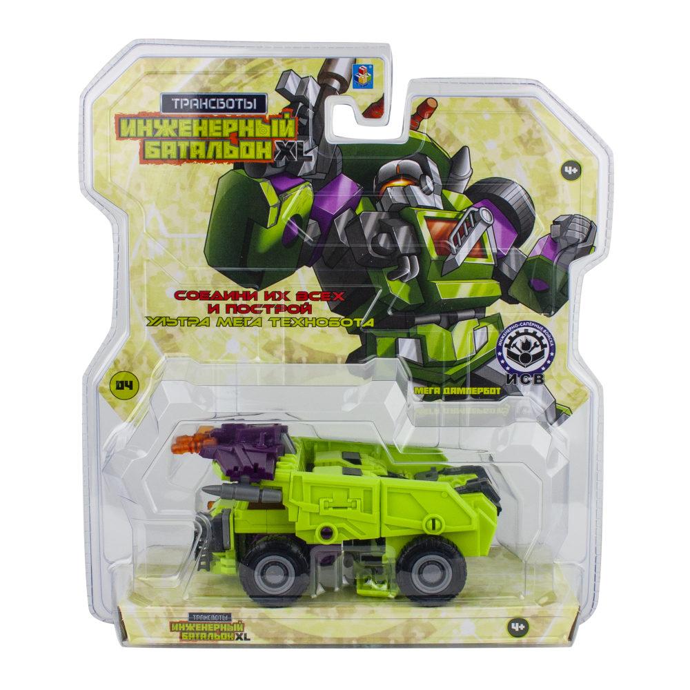 1toy Трансботы Инженерный батальон XL: Мега Дампербот (блистер, из 6 шт. собирается большой робот)