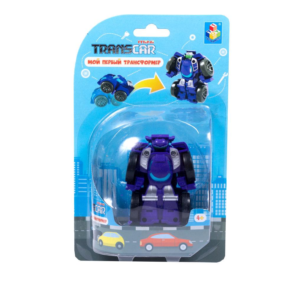 1toy Мой первый трансформер (собирается в суперкар, 6 см, блистер, фиолет.)