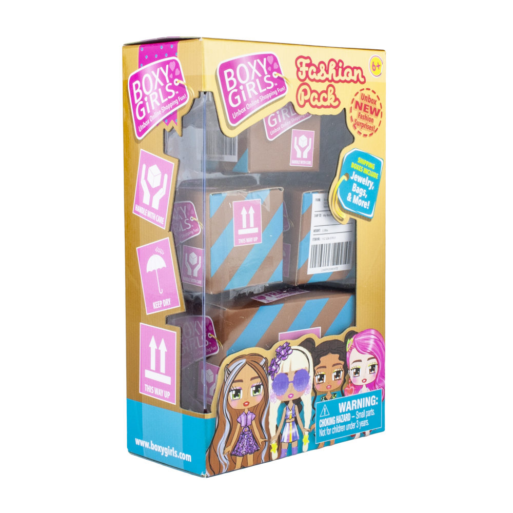1toy Boxy Girls Иигр.наб.из 4-х посылок с сюрпризами для кукол Boxy Girls,кор.