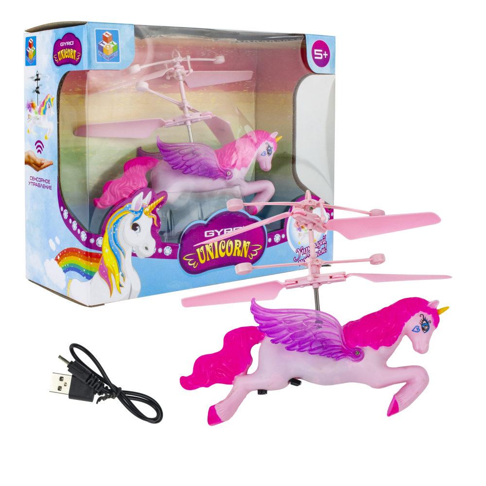 1toy Gyro-Unicorn, игрушка на сенсорном управлении, со светом, акб, коробка
