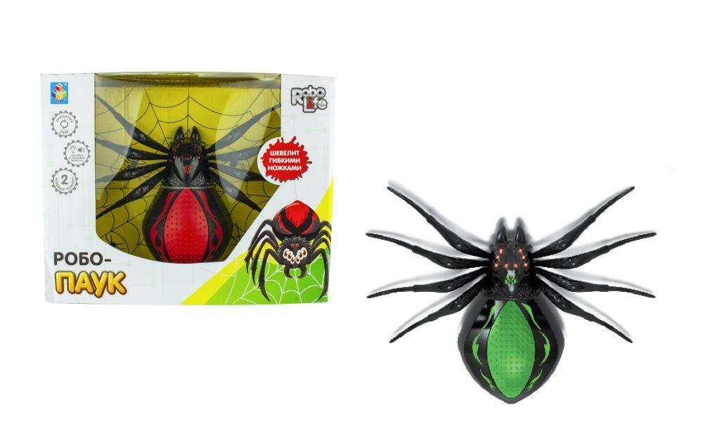 Robo Life Робо-паук (чер- зеленый)