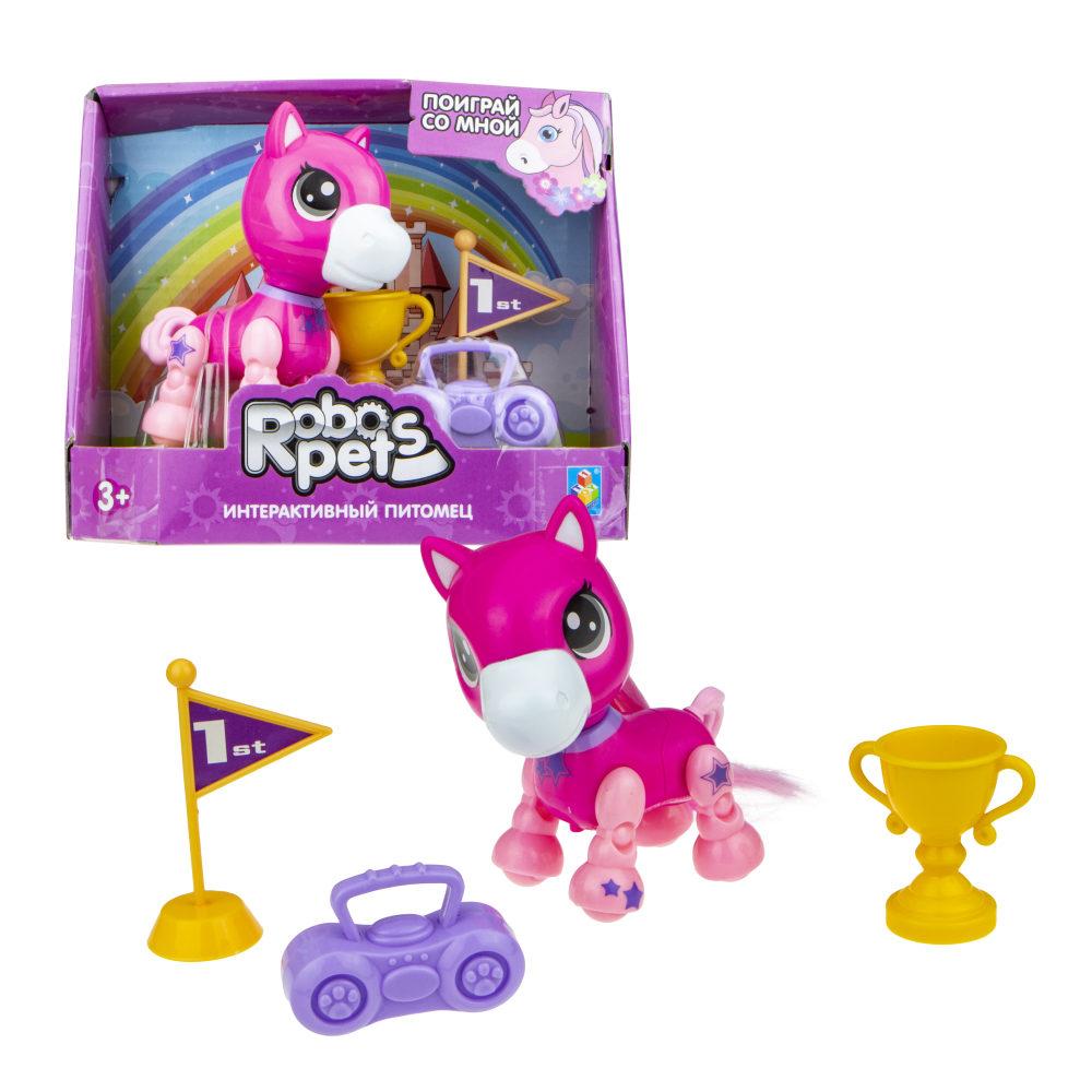 1 toy, игрушка со звук.эффектами Игривый пони розовый, 3 бат LR44 в компл.
