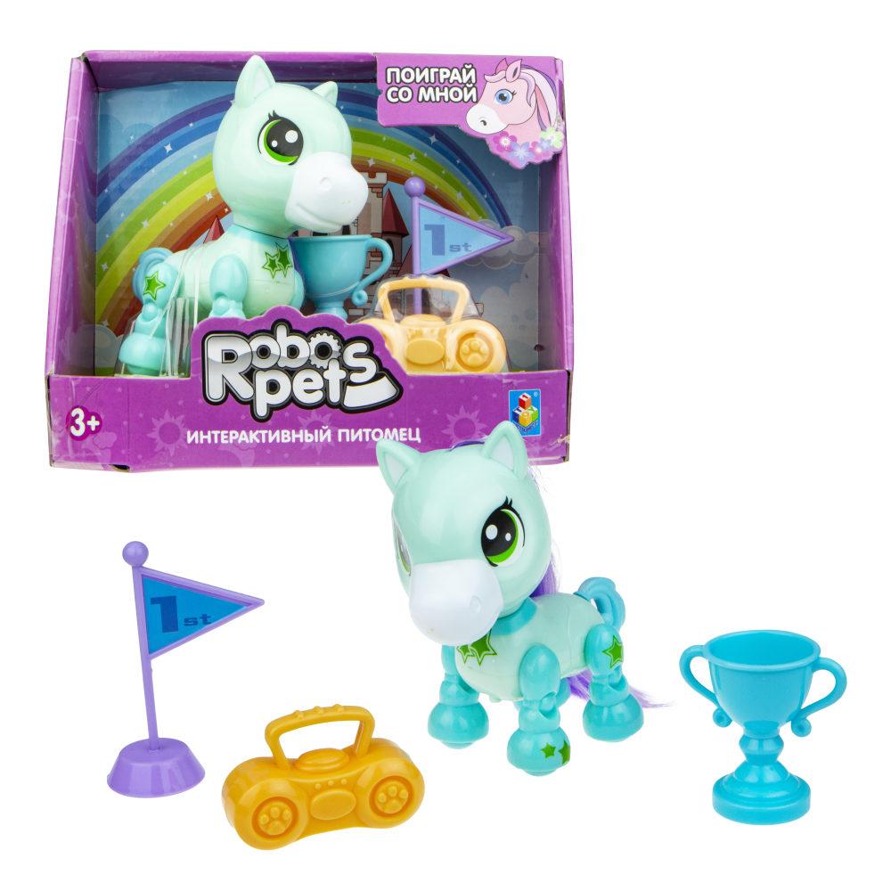 1 toy, игрушка со звук.эффектами Игривый пони мятный, 3 бат LR44 в компл.