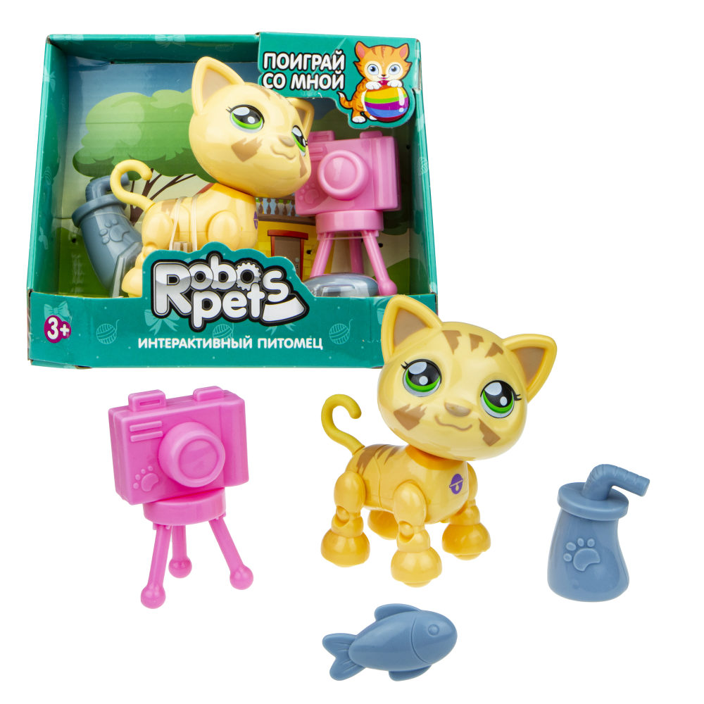 1 toy, игрушка со звук.эффектами Милашка котенок песочный, 3 бат LR44 в компл.