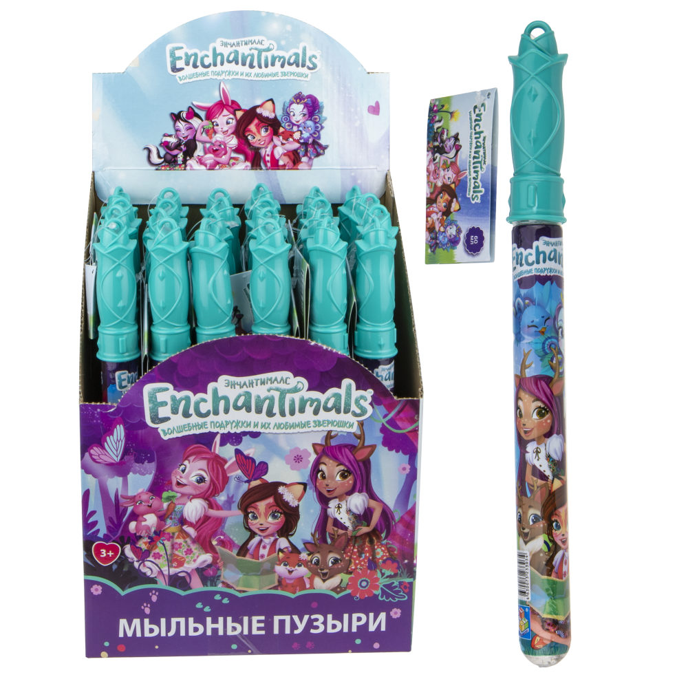 1toy Enchantimals, мыл.пуз., колба в термоплёнке, 60 мл., д/б