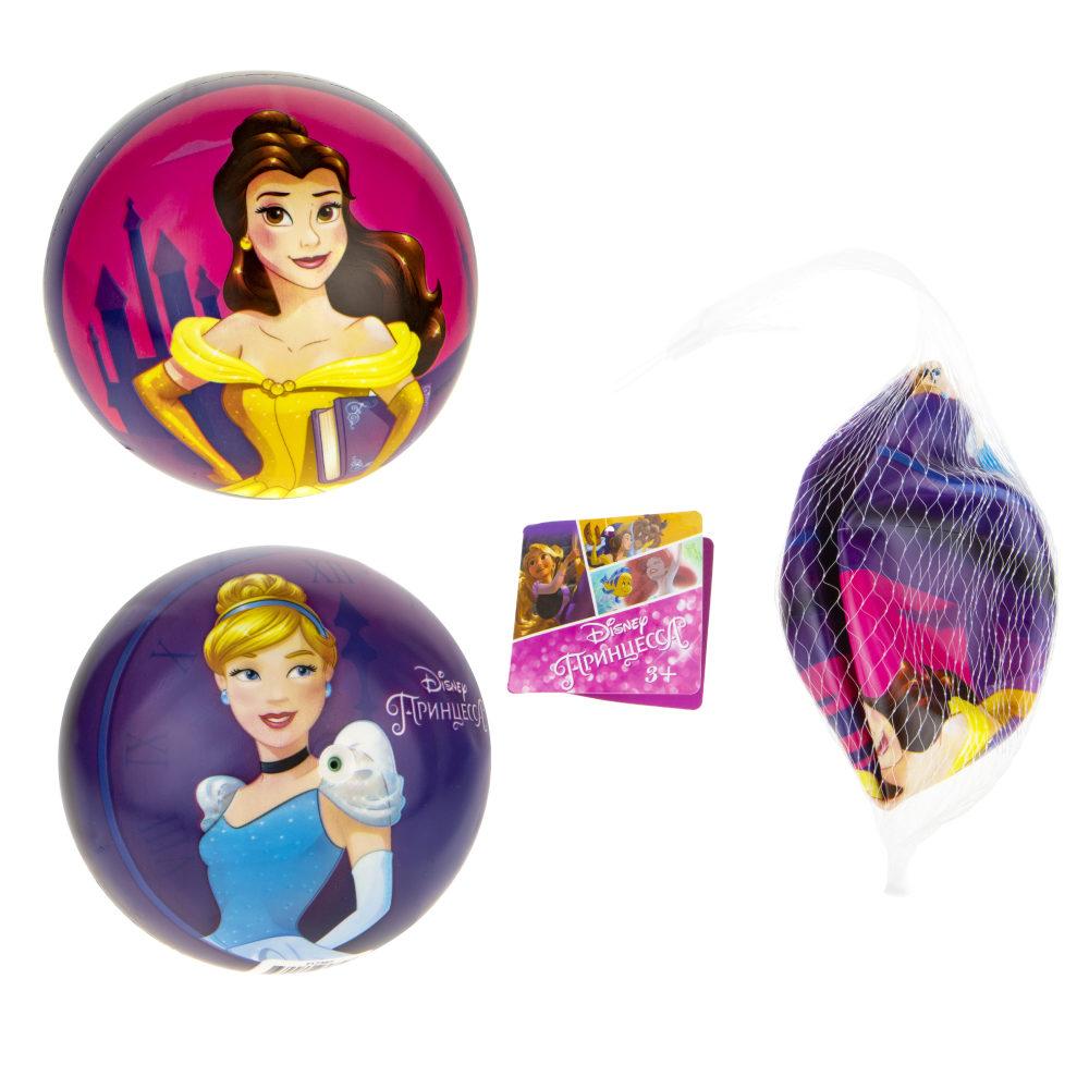 1toy Disney Принцессы Бэль/Золушка мяч ПВХ, полноцветн, 15 см, 50 г, сетка и бирка