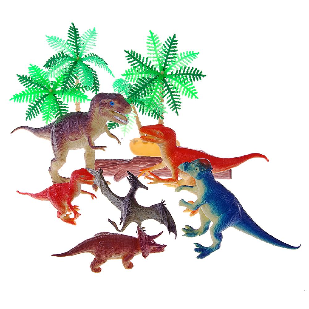 1toy В мире животных наб.игр.динозавров с аксессуарами 10 шт х 10-21 см. в пакете с ярлыком