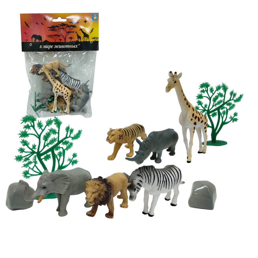 1toy В мире животных дикие жив.10шт.пакет с хед.23х18х5см.