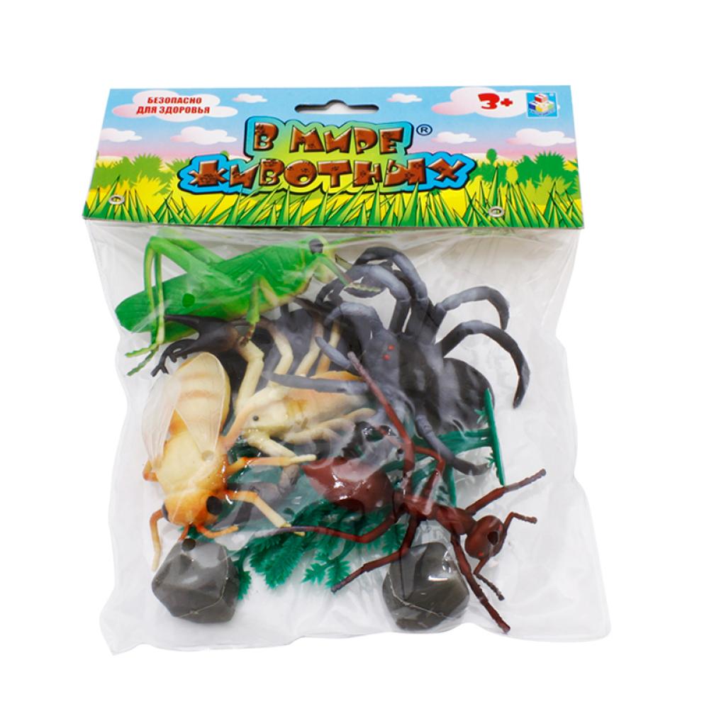 1toy В мире животных насекомые 10шт.пакет с хед.24х18х5см.