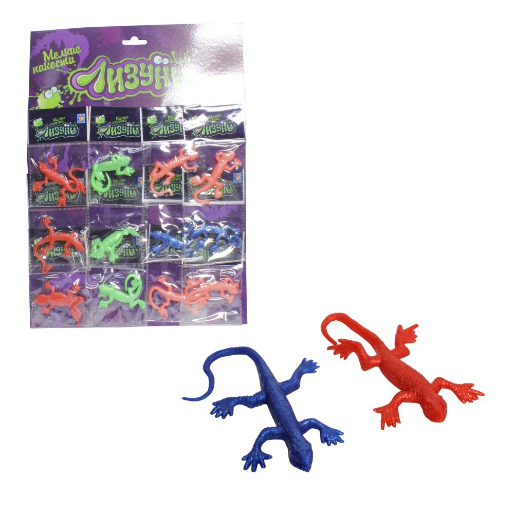 1toy Мелкие пакости Лизуны ящерица-хамелеон 13см, в ассорт. 12 шт.ОРР