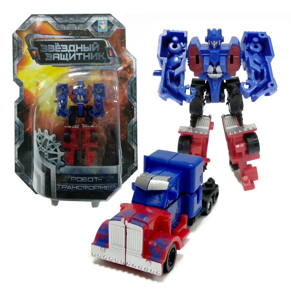 1toy Звёздный защитник, робот-трансформер 9 см, собирается в грузовик, блистер